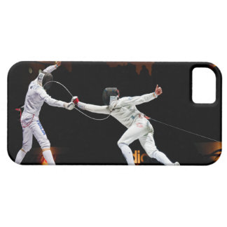 Modern Fencing Sword Fighting Dual iPhone SE/5/5s Case