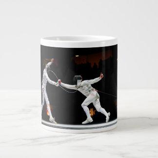 Modern Fencing Sword Fighting Dual Large Coffee Mug