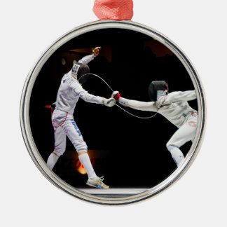 Modern Fencing Sword Fighting Dual Metal Ornament