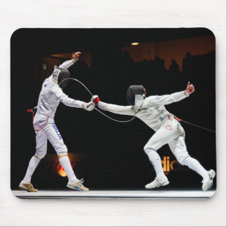 Modern Fencing Sword Fighting Dual Mouse Pad