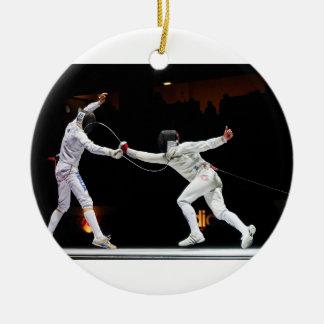 Modern Fencing Sword Fighting Dual Ornaments