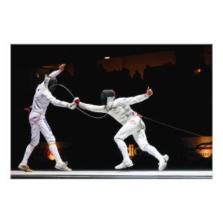 Modern Fencing Sword Fighting Dual Photo Print