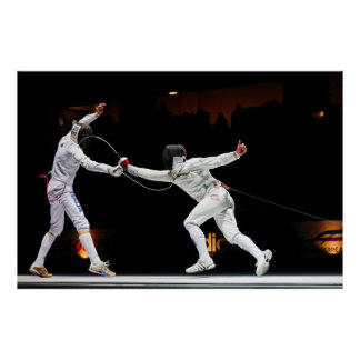 Modern Fencing Sword Fighting Dual Poster