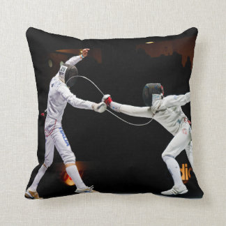 Modern Fencing Sword Fighting Dual Throw Pillow