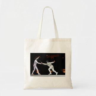 Modern Fencing Sword Fighting Dual Tote Bag