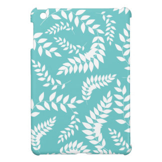 Modern Ferns Foliage White and Teal Case For The iPad Mini