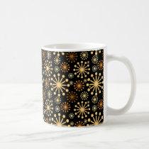 Modern Festive Snowflakes Elelegant Coffee Mug