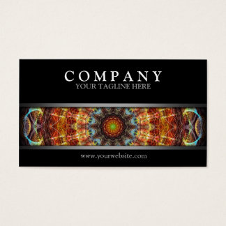 Modern Fiery Needlework Business Card