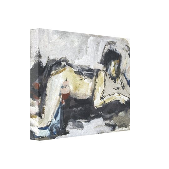 Modern Figurative Abstract Drawing / Painting Canvas Print
