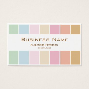 Professional Business modern fine color pastel palette business card