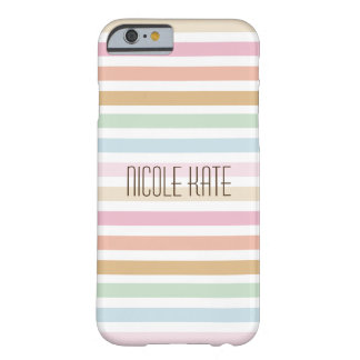 modern fine pastel color monogram barely there iPhone 6 case