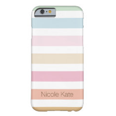 Modern Fine Pastel Color Monogram Barely There Iphone 6 Case at Zazzle