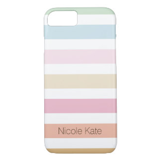 modern fine pastel color monogram iPhone 8/7 case