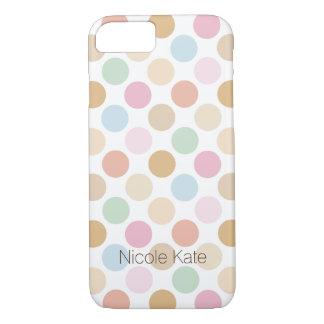 modern fine pastel color polka dots iPhone 8/7 case