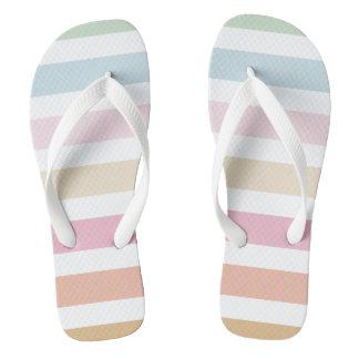 modern fine pastel colors flip flops