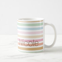 modern fine pastel colors monogram coffee mug