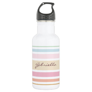 modern fine pastel colors monogram water bottle