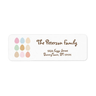 modern fine pastel easter eggs label