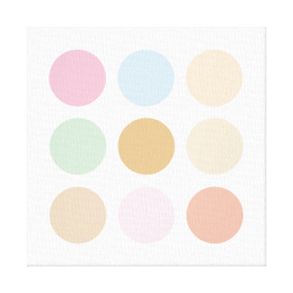 Modern fine polka dots pastel colors canvas print