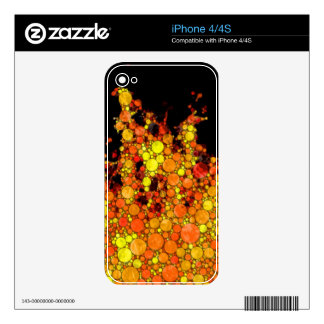Modern Fire - Abstract Circle Flame Print Decals For The iPhone 4S