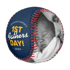 Modern First Father's Day Gift Baseball