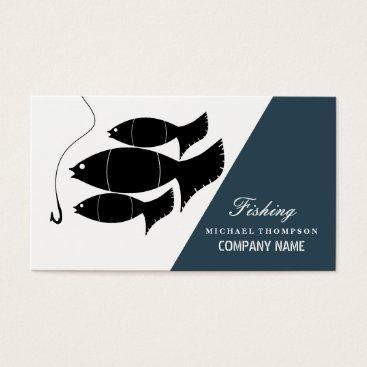 Professional Business Modern Fish & Hook, Fishing Business Card