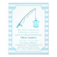 Modern baby shower invitations announcements zazzle modern fishing themed baby shower invitations filmwisefo