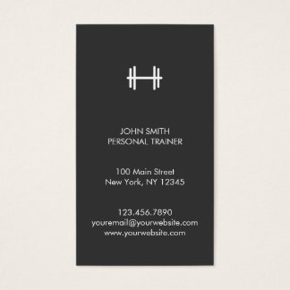 Modern Fitness/Personal Trainer Business Card