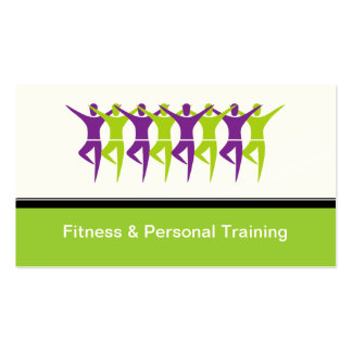 Modern Fitness & Personal Trainer Business Cards