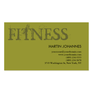 Modern Fitness Personal Training Business Card