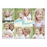 Modern Flag Holiday Photo Card - Blue Personalized Invites