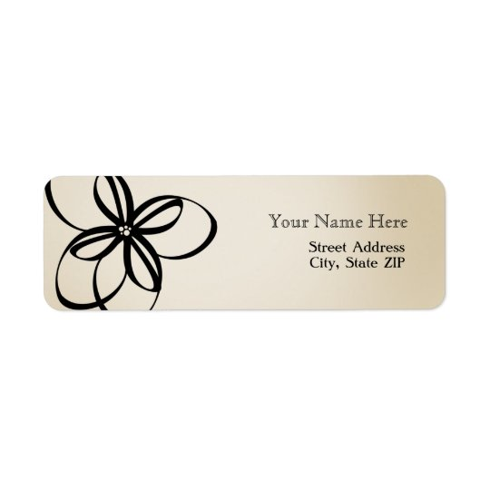 Modern Floral Address Label