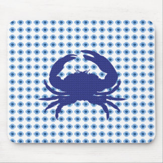 Modern-Floral-Baby-Blue_Crab_Unisex Mouse Pad