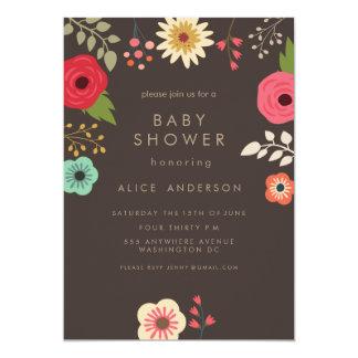MODERN FLORAL BABY SHOWER INVITATION