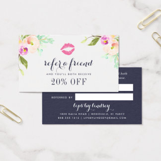 Modern Floral | Beauty Business Referral Card