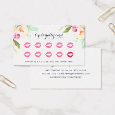 Modern Floral | Beauty Loyalty Business Card at Zazzle