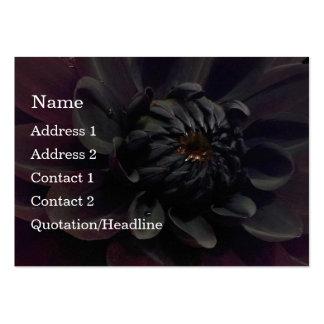 Modern Floral Black Dahlia Flower Business Card Template