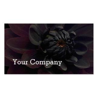 Modern Floral Black Dahlia Flower Business Cards