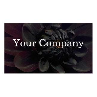 Modern Floral Black Dahlia Flower Business Card