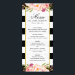 """Modern Floral Black White Striped 