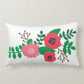 Modern Floral (Blush and Ruby) Pillow
