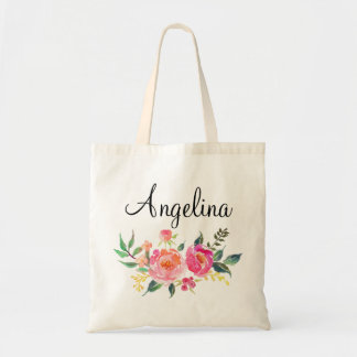 Modern Floral Bridesmaid Personalized-3 Tote Bag
