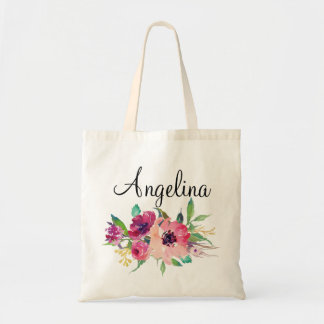 Modern Floral Bridesmaid Personalized-4 Tote Bag