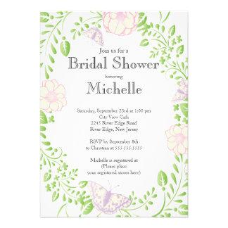 Modern Floral Butterfly Garden Bridal Shower Card