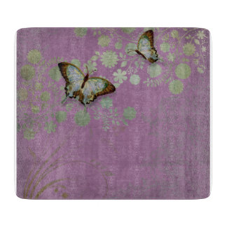 Modern Floral Butterfly w Abstranct Flower Blossom Cutting Boards