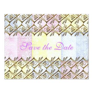 Modern Floral Country Vintage Wedding Bride Rustic Card