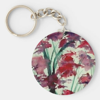 Modern Floral CricketDiane Art Keychain