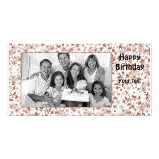 Modern floral design card
