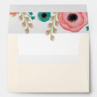 Modern Floral Design Custom Graduation Envelopes