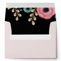 Modern Floral Design Custom Wedding Envelopes